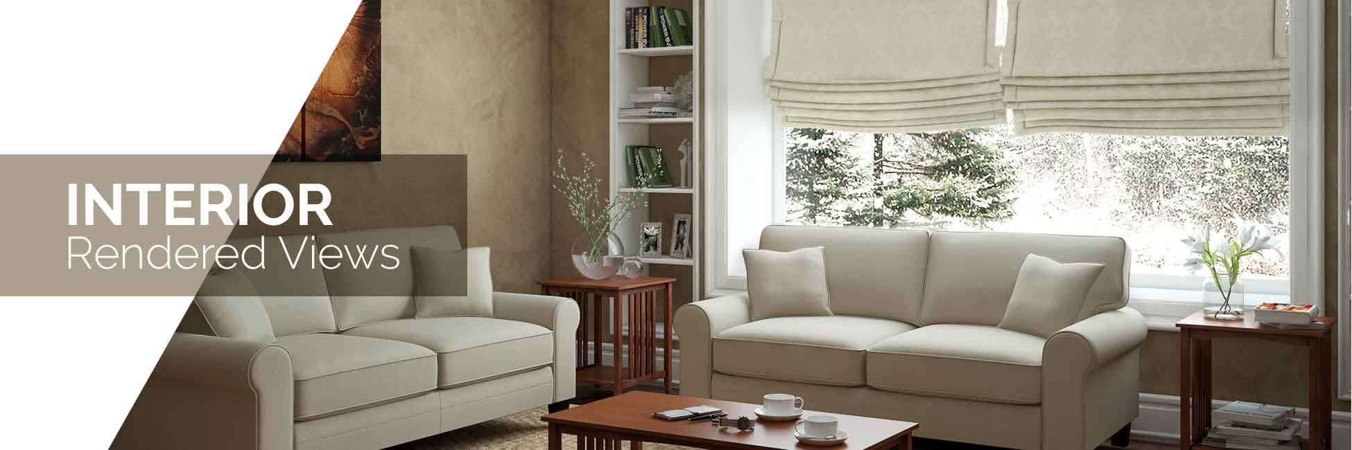 Interior Rendered views